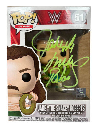Jake The Snake Roberts Signed Funko Pop 100% Authentic With COA