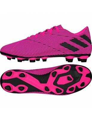 Adidas Mens Boys Nemeziz 19.4 FxG Pink Football Boots F34392 Size 6.5 New