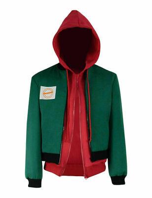 Green Spiderman Costume (Miles Morales Cosplay Costume Green Jacket Spiderman Red Hoodie!Free)