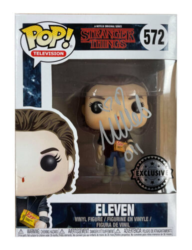 Stranger Things Funko Pop #572 Signed in Silver by Millie Bobby Brown 100% + COA