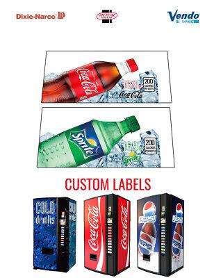2 Vending Machine 16.9 Oz Bottle - Coke - Sprite - Vend Labelflavor Strips