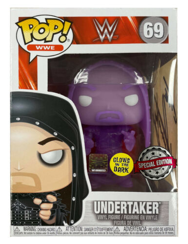 Funko Pop Signed By WWE WWF Star The Undertaker 100% Authentic with COA