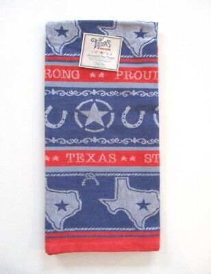Kay Dee Designs - Jacquard Tea Towel - Texas Pride - NWT