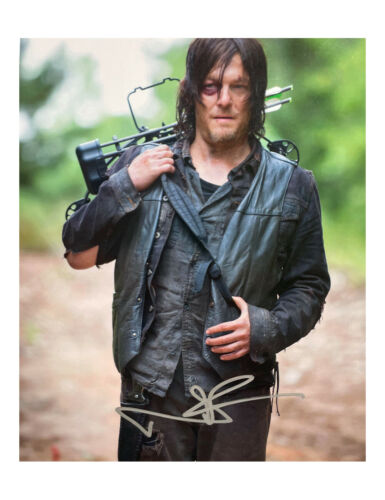 """8x10"""" The Walking Dead Print Signed by Norman Reedus 100% Authentic With COA"""