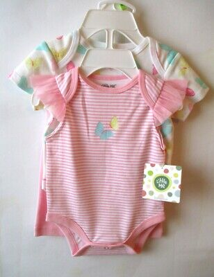 Little Me - Baby Girl - 3-Pc Light Pink & White Bodysuit w/Pants Set - 3 mos NWT