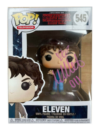 Stranger Things Funko Pop #545 Signed in Pink by Millie Bobby Brown 100% + COA