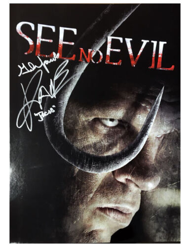 A3 See No Evil Poster Signed by Kane 100% Authentic With COA