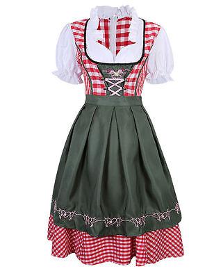 2tlg Dirndl Traditional Dress German Bavarian Oktoberfest Beer Girl Cotume - Girls Oktoberfest