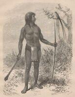 C1270 Indien Mesaya Et Son Dieu Buequé - Xilografia - 1867 Vintage Engraving -  - ebay.it