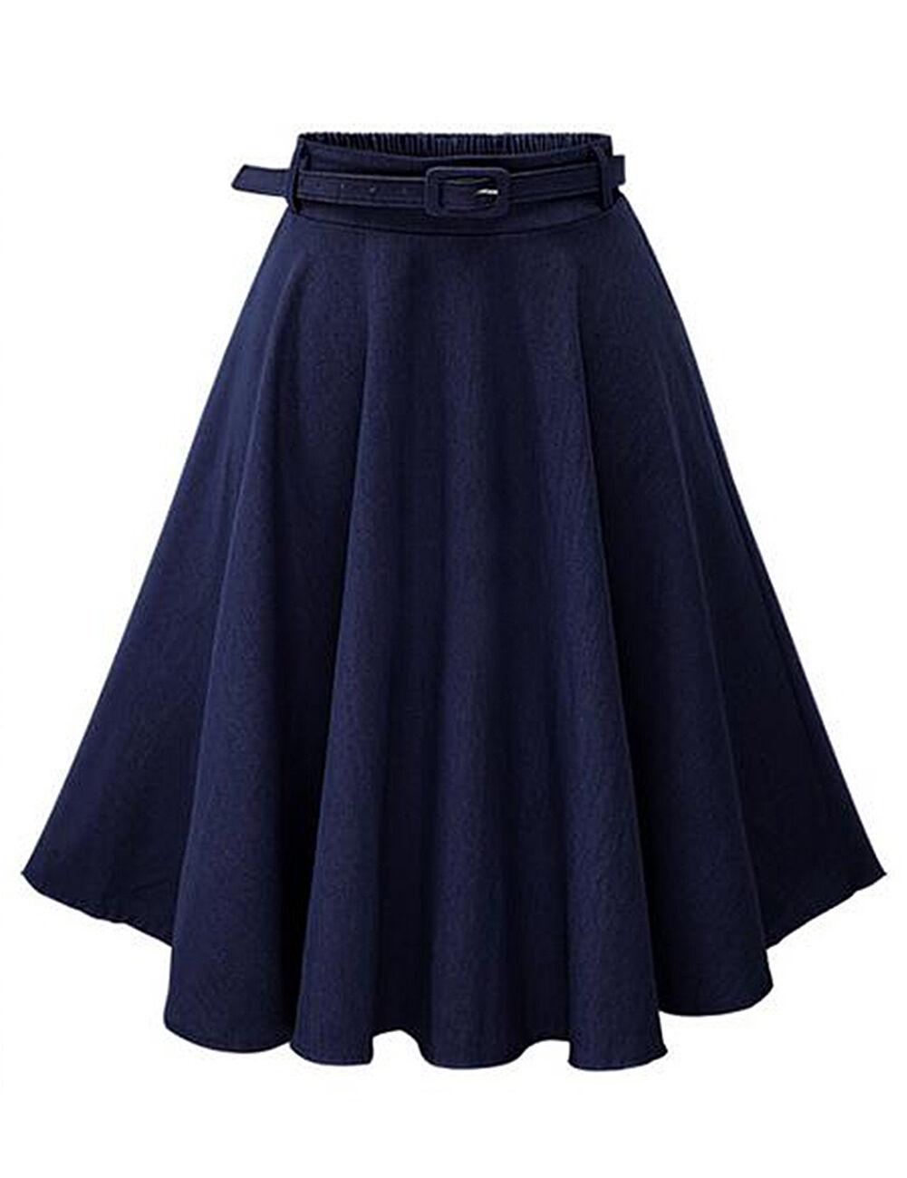 2016 Fashion Vintage Women High Waist Denim Jeans A-Line ...