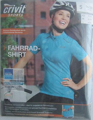 Damen Fahrrad Shirt * S 36/38 * 3  Rückentaschen * Crivit Sports * Neu * OVP