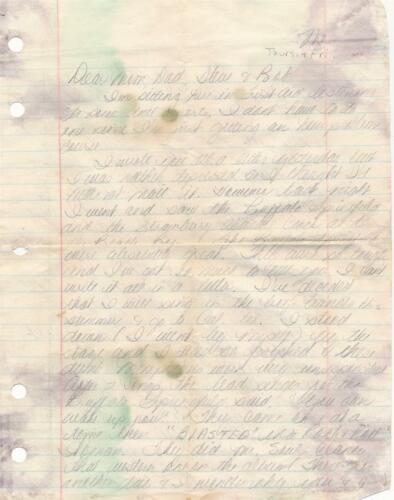 Cassie Gaines- RARE 6 page ALS signed in 1968-Lynyrd Skynyrd Plane Crash