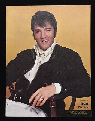 ELVIS PRESLEY RCA PROMOTION *PHOTO ALBUM* BOOKLET LATE 1960'S EDITION & SHARP