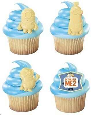48  Minions Cupcake Ring Decoration party  Despicable Me 2 - Cupcake Minions