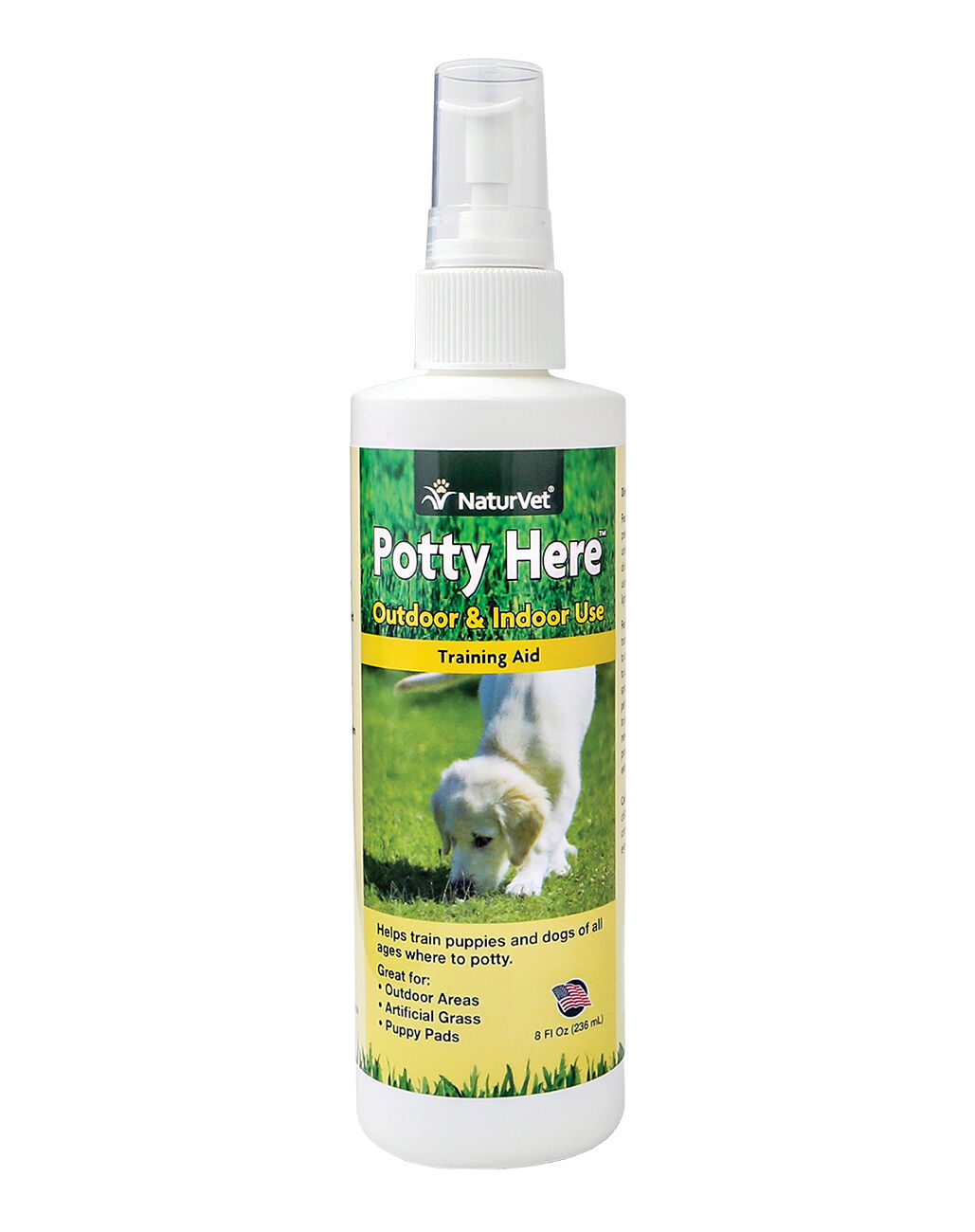 Купить NaturVet - NaturVet Potty Here Dog Puppy Training Aid Spray for puppy pee pads 8oz FREE PAD