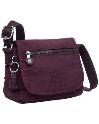 Kipling Cross Body Mini Sabian Bag In Colour Dark Plum