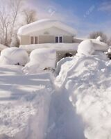 Home roof snow removal