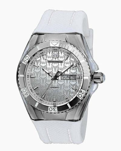 Technomarine Ladies Cruise Monogram Swiss Quartz Stainless Steel Watch~w/2 Bands