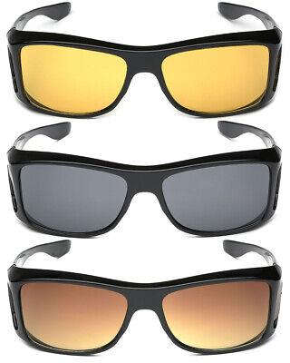 Medium-Large FIT OVER Sunglasses Cover Prescription RX Eye Glasses Men Women ()