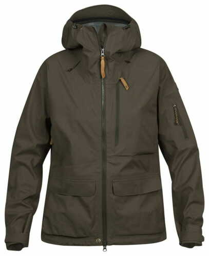 FJALLRAVEN LAPPLAND ECO-SHELL WOMEN HUNTING HOODED JACKET SIZE S