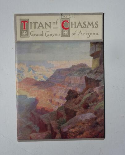 """1911 Santa Fe Railroad Pamphlet """"Titan of Chasms"""" Grand Canyon Arizona"""