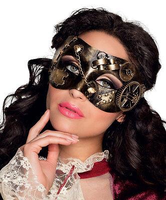 Herren Damen Steampunk Maske Deluxe Venezianische Maskerade Ball Venezien