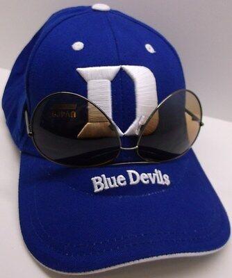 Duke Blue Devils Ball Cap Hat~BLUE~Sunglasses Holder~JBREM~NCAA~Ships - Duke Blue Devils Sunglasses