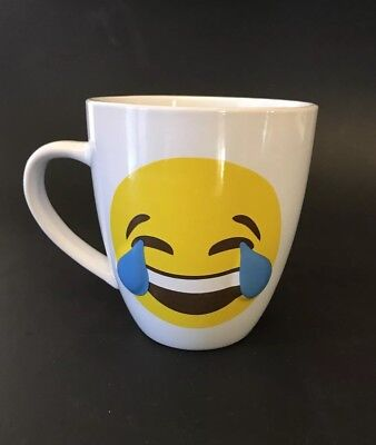 New Emoji Laughing with Tears 14 Oz White Coffee Mug](Laughing With Tears Emoji)