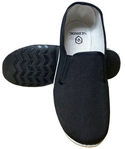 Sedroc Kung Fu/Tai Chi Shoes Rubber Sole Slip on Canvas Slippers Men