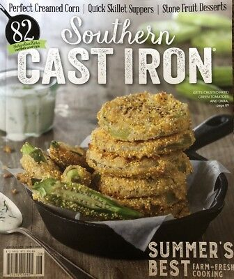 SOUTHERN CAST IRON MAGAZINE Summer 2018 NEW Fried Green Tomatoes Okra Chef