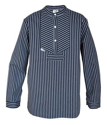 Kinder Finkenwerder Fischerhemd Hemd Marine Matrose Mädchen breit gestreift - Kind Fischer Kostüm