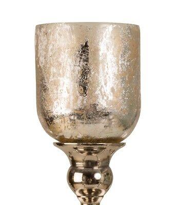 5 x Glasaufsatz Silber für Kerzenständer Glas Windlicht Aufsatz Kerzenleuchter