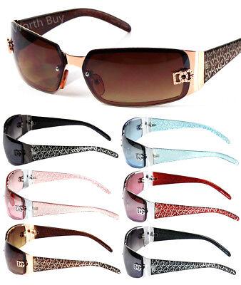New WB Eyewear Womens Wrap Oval Rectangular Sunglasses Designer Shades (Sunglass Eyewear)