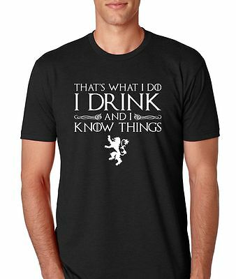 """Game of Thrones """"I Drink And I Know Things"""" Athletic Fit Men"""