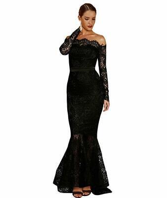 LALAGEN Women's Floral Lace Long Sleeve Off Shoulder Wedding Mermaid (Off The Shoulder Long Sleeve Mermaid Wedding Dress)