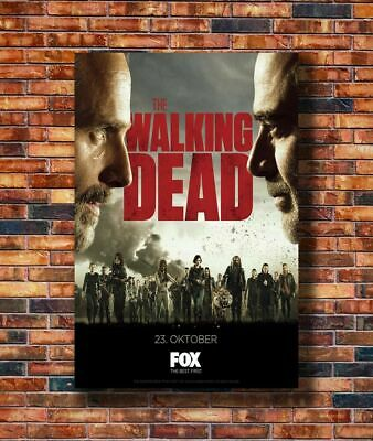 H526 Art The Walking Dead Season 8 USA Hot TV Series 24x36in Poster