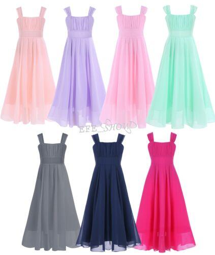 Uk Chiffon Lace Princess Flower Dress Junior Wedding Bridesmaid 4 14gbp 5 65