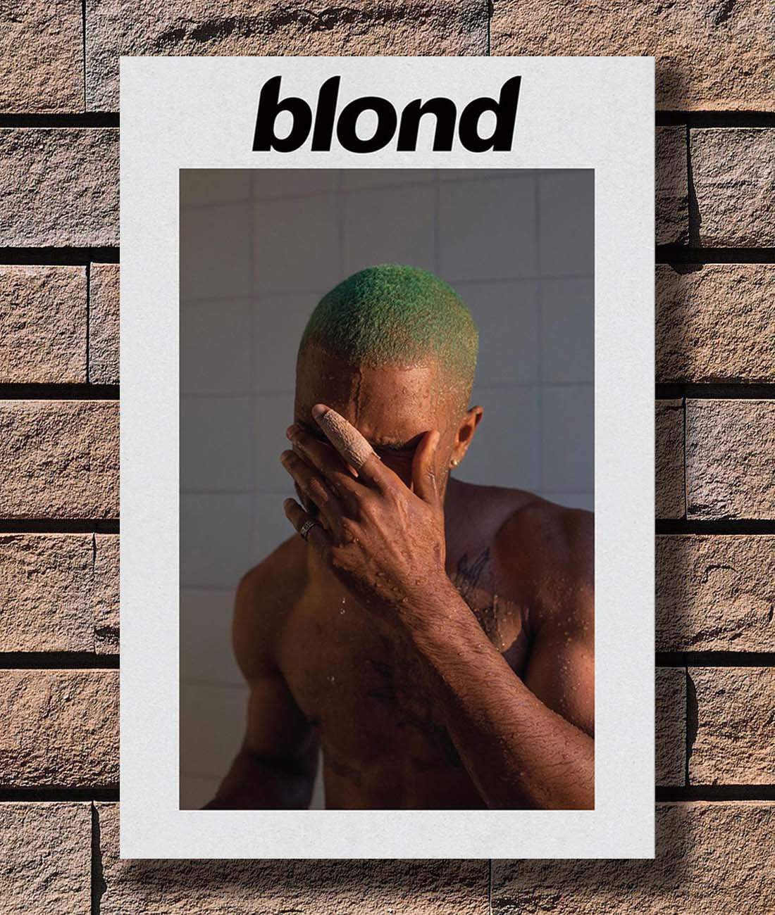 P-716 Art Frank Ocean Blonde Hip Hop Rapper Music Star LW-Canvas Poster 24x36in