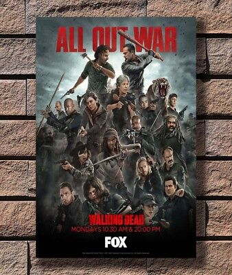 P5136 Art The Walking Dead Season 8 AMC TV Series Poster Hot Gift 14x21 24x36