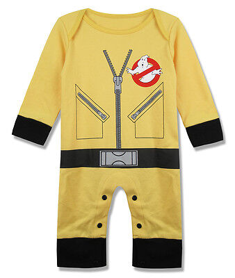 Baby Boy Ghostbusters Costume Romper Newborn Jumpsuit Infant Outfits - Ghost Busters Outfit