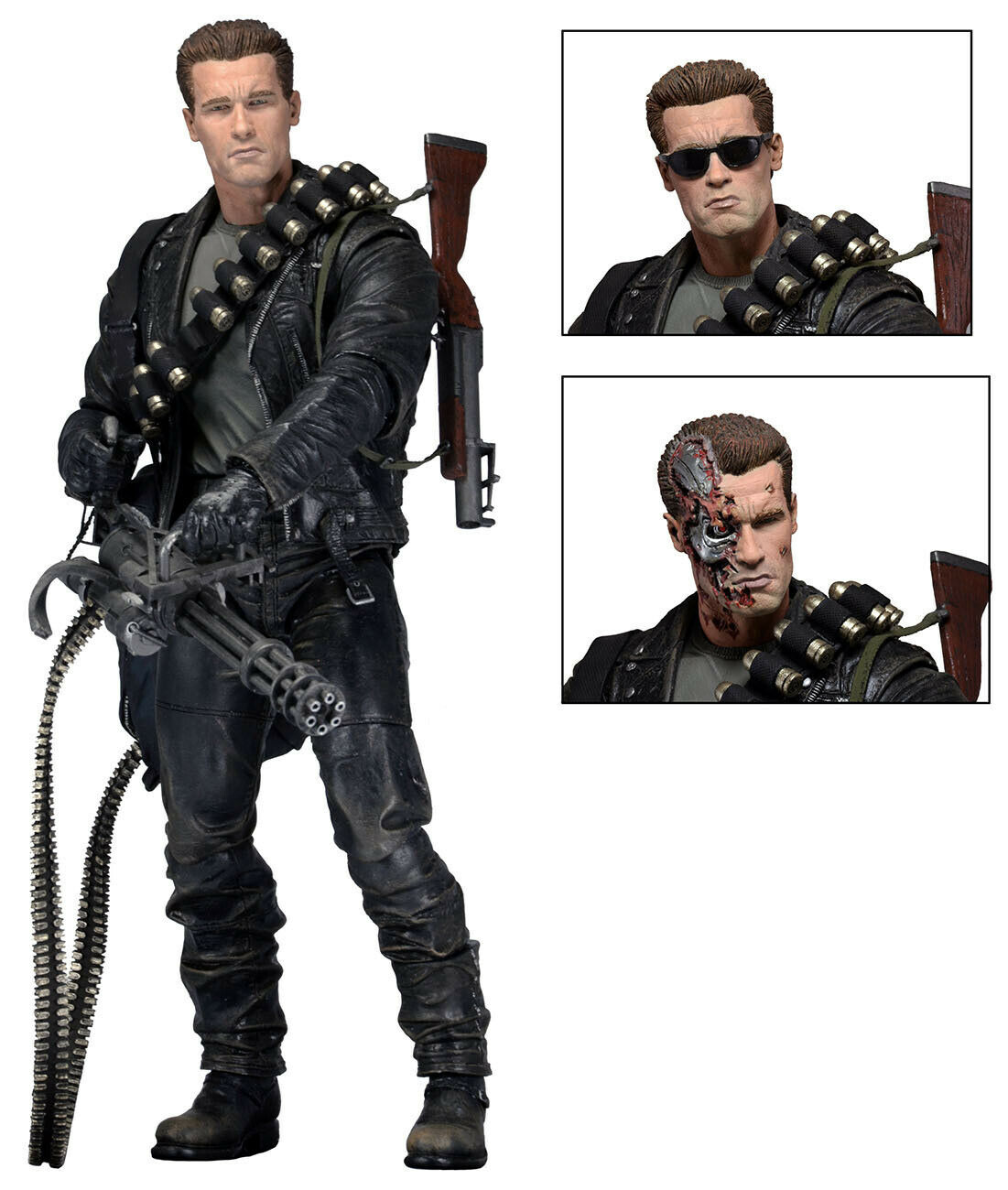 """Terminator 2 Judgment Day T-800 Ultimate Deluxe Arnold 7"""" Ac"""