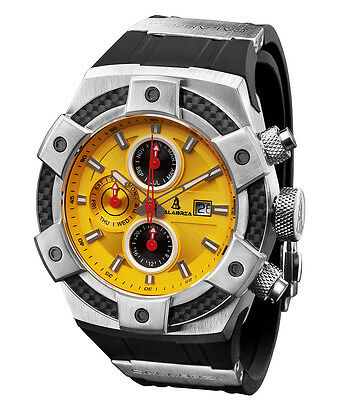 CALABRIA - ARMATO - Yellow Chronograph Men Watch with Carbon Fiber Bezel