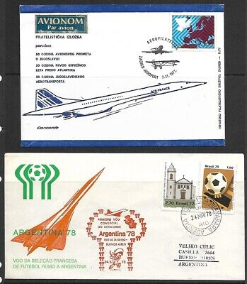 13 Concord Super Sonic Cover Lot - Events-First Flights-FDC - 1978/1982