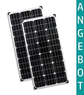 2x 80W Watt 12V Solarmodul Monokristallin Solar Solarpanel Mono Camping solarXXL