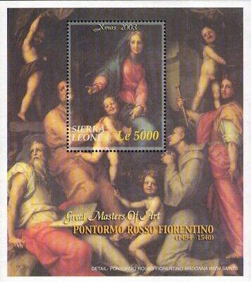 MODERN GEMS - Sierra Leone - Christmas 2003 - Souvenir Sheet - MNH
