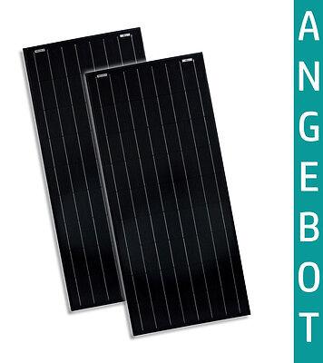 2x 100W Watt 12V Solarmodul Monokristallin Full Black Solarpanel solarXXL