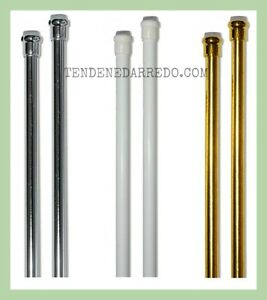 Coppia astine a molla regolabili per tenda a vetro bastoni for Tende a vetro per cucina classica