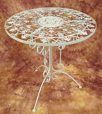 Kaffeetisch Bistrotisch Nostalg. Eisen Tisch Gartentisch Beistelltisch 0961806-a