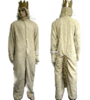 Where the Wild Things Are Wolf King MAX COSTUME Hoodie Adult with crown - Wild Things Max Costume