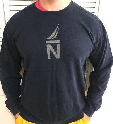 Nautica Navy Blue Thin Sweater Mens Size XXL Lightweight Pullover Top